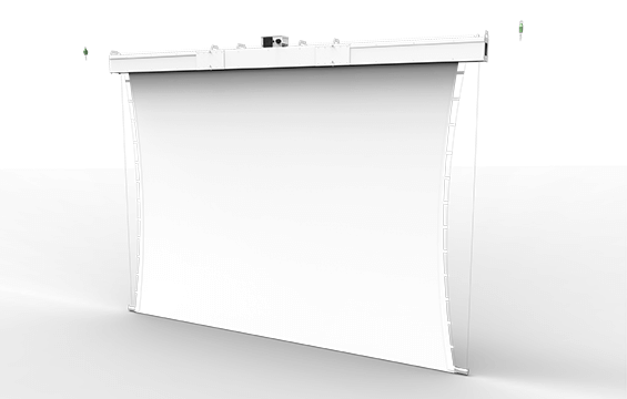 Grandmax Motorized Roll up Tensioned Screen 01